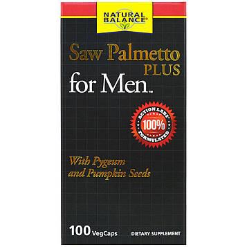 Natural Balance, Пальма сереноа плюс для мужчин, 100 капсул в растительной оболочке