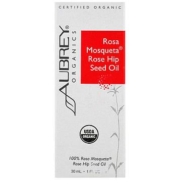 Aubrey Organics, Органическое, масло семян шиповника Роза Маскета, 1 мл (30 мл)