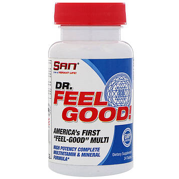 SAN Nutrition, Dr Feelgood, Мультивитамины, 24 таблетки