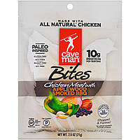 Caveman Foods, Bites, Chicken Meat with Applewood Smoked BBQ, 2.5 oz (71 g)