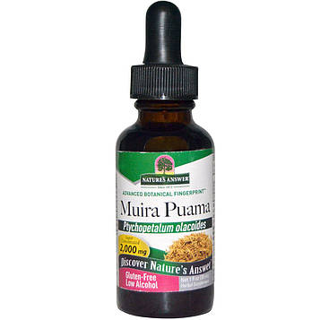 Natures Answer, Муира пуама, с низким содержанием спирта, 2000 мг, 1 жидкая унция (30 мл)