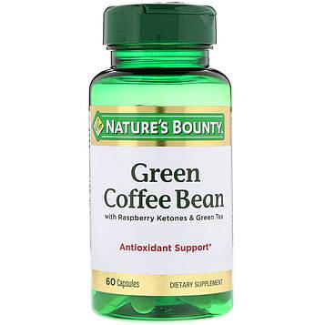 Natures Bounty, Зеленые кофейные зерна с кетонами малины и зеленым чаем, 60 капсул