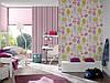 Плотные и прочные фактурные обои, в вертикальную полоску, розовую и фиолетовую 898319, фото 9