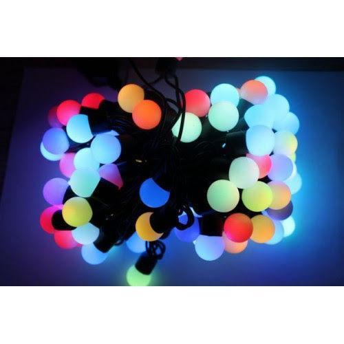 Гирлянда шарики 80LED 16mm  7и цветная 9 метров