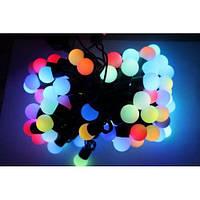Гирлянда шарики 80LED 16mm  7и цветная 9 метров, фото 1