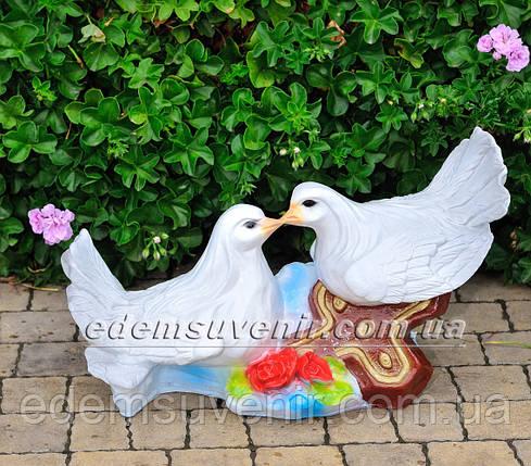 Садовая фигура Два Голубя, фото 2