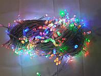 Гирлянда 400 LED 5mm, на прозрачном проводе, Разноцветная, фото 1