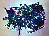 Гирлянда 500 LED 5mm, на черном проводе, Разноцветная