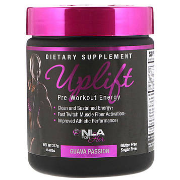 NLA for Her, Uplift, Pre-Workout Energy, Guava Passion, 0.47 lbs (212 g)