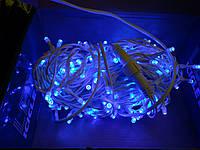 Гирлянда Уличная нить(линия) 100 LED 5mm,10 метров,на Белом проводе, синяя, фото 1