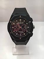 Мужские наручные часы Hublot (Хаблот), черный цвет ( код: IBW177B )