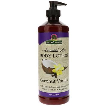 Natures Answer, Эфирное масло, лосьон для тела, кокос и ваниль, 474 мл (16 жидк. унц.)