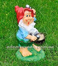 Садовая фигура Гном Барабанщик средний, фото 3