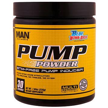 MAN Sports, Pump Powder, Stim-Free Pump Inducer,Blue Bomb-Sicle, 7.94 oz (225 g)