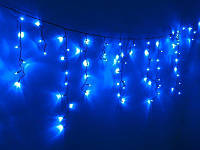 Гирлянда Уличная бахрома(сосульки) 200 LED5mm,5 метра 70/60/50 см,на черном проводе.синяя, фото 1
