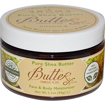 Aroma Naturals, Натуральное масло ши, увлажнитель для лица и тела, 95 г (3,3 унции)