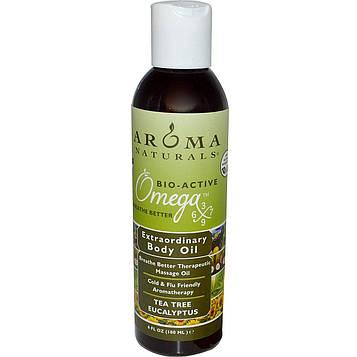 Aroma Naturals, Масло для чрезвычайного тела, чайное дерево и эвкалипт, 180 мл (6 жидких унций)