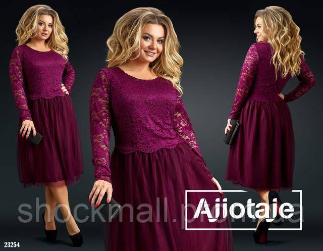 9496eaede109063 Платье с юбкой из фатина большие размеры, цена 628 грн., купить в ...