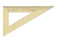 Линейка треугольник дерево 22см 60х30х90 (103019)