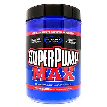 Gaspari Nutrition, SuperPump Max, лучшая добавка для приема перед тренировкой, арбуз, 1,41 фунта (640 г)