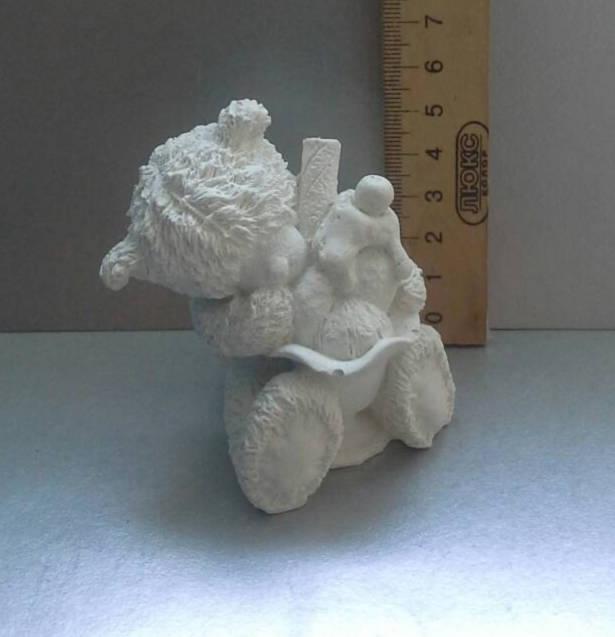 Гипсовая фигурка для раскрашивания статуэтка. Гіпсова фігурка для розмальовування. Мишка с мороженым
