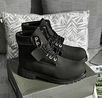 Timberland Black Boot 6 Inch Premium (с мехом)   ботинки  мужские  черные 2866f7ce41f
