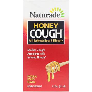 Naturade, Honey Cough с гречкой, медом и бузиной, вкус натурального меда, 125 мл