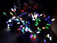 Гирлянда 200 LED иголка (рис) на черном проводе 5mm, разного цвета, фото 1
