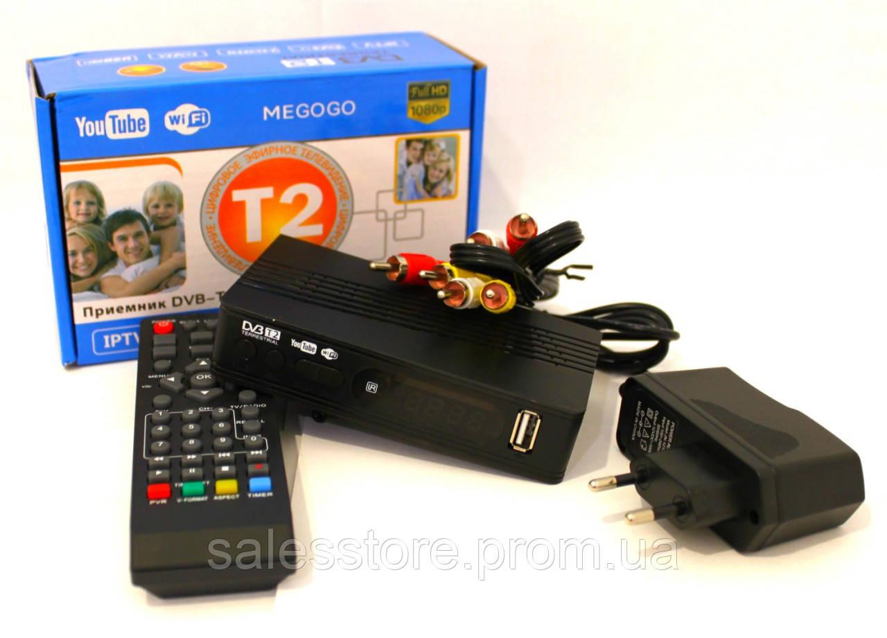 Тюнер Т2 ресивер цифровой MeGoGo  приставка для телевизора c USB , Wi-Fi , IP-tv , Megogo