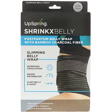 UpSpring, Shrinkx Belly, бандаж для послеродового периода с древесным бамбуковым волокном, размер L/XL, черный