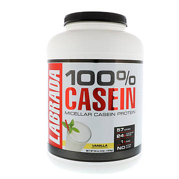 Labrada Nutrition, 100% казеин, ваниль, 4 фунта (1816 г)