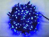 Гирлянда 400 LED 5mm, на черном проводе, Синяя, фото 1