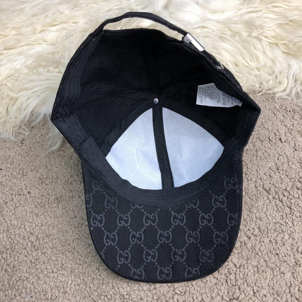 676b965ef3c Baseball Hat Gucci Web GG Supreme Canvas Black  продажа