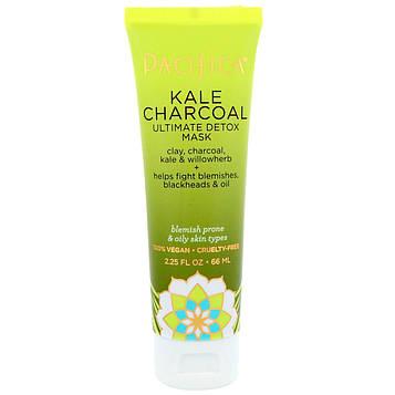 Pacifica, Kale Charcoal Ultimate Detox Mask, 2.25 fl oz (66 ml)
