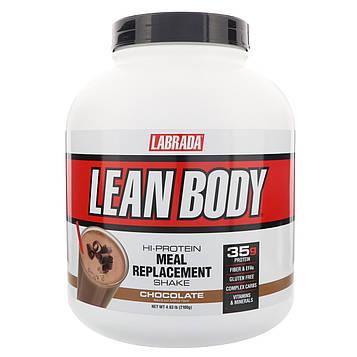 Labrada Nutrition, Lean Body, высокопротеиновый коктейль, заменитель пищи, шоколад, 4,63 фунта (2100 г)