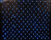 Гирлянда СЕТКА 200 LED-5mm 2m*2m на черном проводе синяя, фото 1