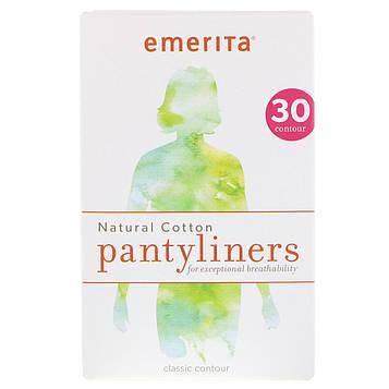 Emerita, Прокладки из натурального хлопка, классической формы, 30 шт.