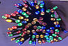 Гирлянда УЛИЧНАЯ нить (линия)  100 LED 8mm,10 метров, на черном проводе.разноцветная
