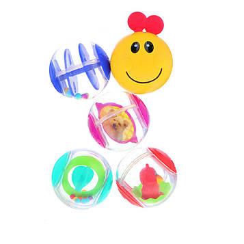 Baby Einstein, Roller-Pillar Activity Balls, 3+ Months, 5 Activity Balls
