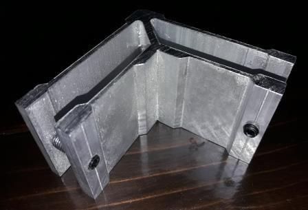 Куточок з'єднувальний для труби прямокутної 30х60 мм