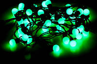 Гирлянда ШАРИКИ 50 LED 16mm  6 метров зеленые, фото 1