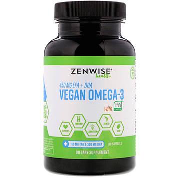 Zenwise Health, Vegan Omega-3 with LifesOmega,120 softgels