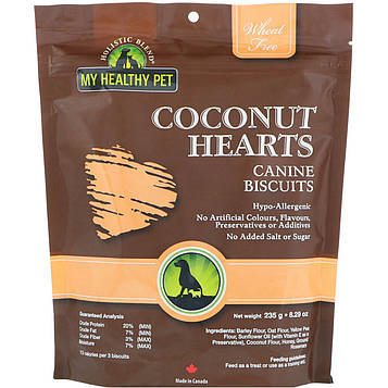 Holistic Blend, My Healthy Pet, Coconut Hearts, Canine Biscuits, 8.29 oz (235 g)