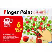 Гуашь пальчиковая 6 цветов по 35мл