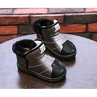 Ботинки детские зимние с мехом (два цвета) PU-кожа Baotou Размер: 26-35