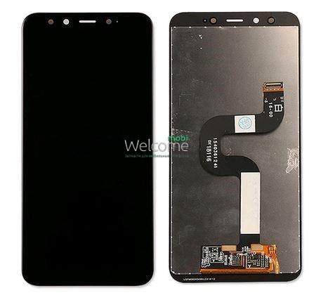Модуль Xiaomi Mi A2/Mi6X black дисплей экран, сенсор тач скрин Сяоми Ксиоми Ми А2, 6Х