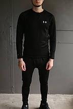Термобелье комплект мужское черное брендовое от Under Armour Андер Армор высокое качество, фото 2