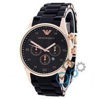 Emporio Armani Gold-Black ЧАСЫ Мужские (эмпорио армани золото-черный)  Чоловічий годинник реплика