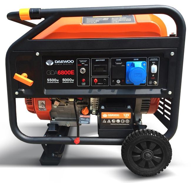Бензиновый генератор Daewoo GDA 6800Е