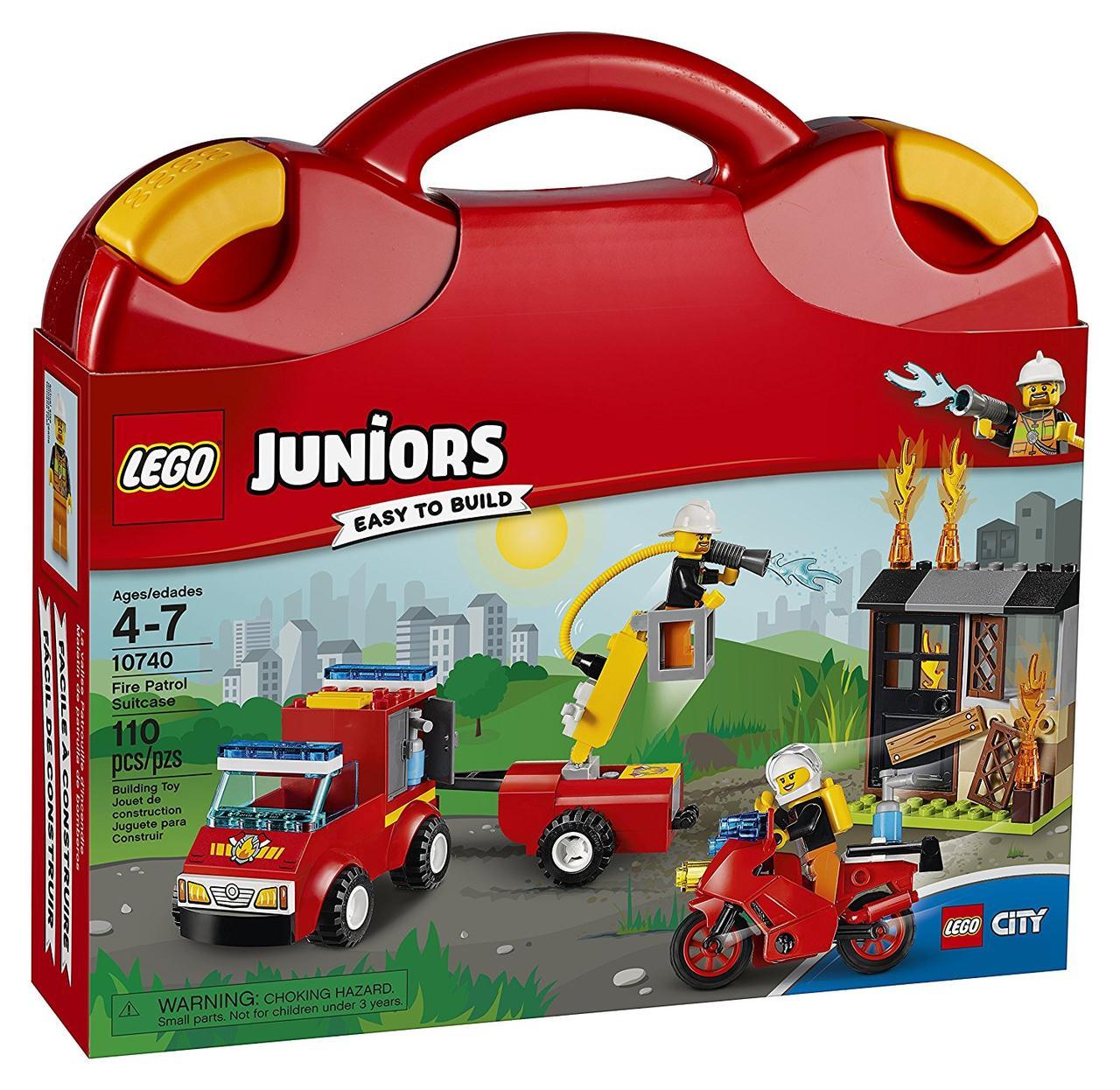 Конструктор Lego Juniors Чемоданчик Пожарная команда 10740 Fire Patrol Suitcase Building Set